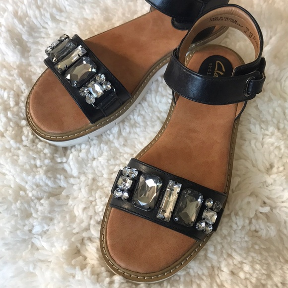 d02c512eb76 Clarks Shoes - Clarks Bejeweled Sandals size 5-1 2